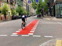 У центрі Києва створюють велодоріжки: список вулиць